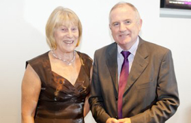 Ann and Ray Schofield - Forrest Badminton Club Representatives at the Greater Manchester Sports Awards 2010