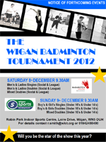 Wigan Badminton Tournament 2012