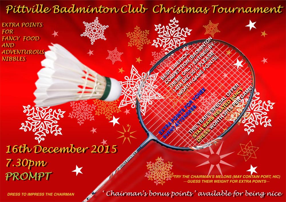 Pittville Badminton Club Christmas Tournament 2015